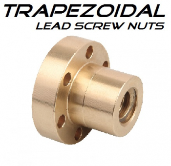50x8 FFR - Trap (C) Nut leadscrew Bronze - RH Flanged